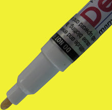 Yellow Fine Tip DecoColor paint pen for writing on Garden Markers