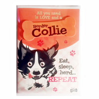 "Wags & Whiskers Dog Greeting Card ""Border Collie"" by Paper Island"