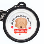 LABRADOODLE COLLAPSIBLE TRAVEL DOG BOWL GIFT