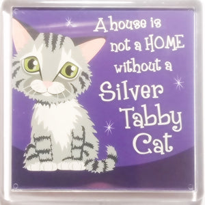 "Cat Magnet ""Silver Tabby (home)"" by Paper Island"