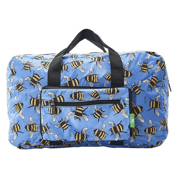 Eco Chic Lightweight Foldable Holdall Bees (Blue)