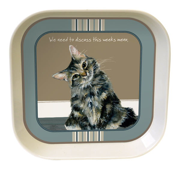Tabby Cat Bamboo Trinket Tray – Menu