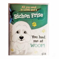 "Wags & Whiskers Dog Greeting Card ""Bichon Frise"" by Paper Island"