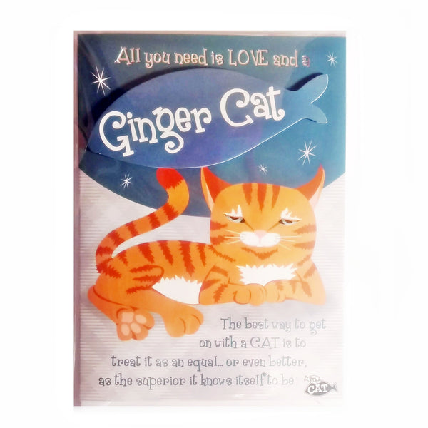 "Wags & Whiskers Cat Greeting Card ""Ginger Wags & Whiskers Cat, Stubborn"" by Paper Island"