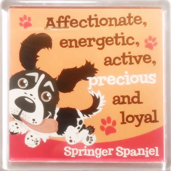 "Wags & Whiskers Dog Magnet ""Springer Spaniel (Black & White)"" by Paper Island"