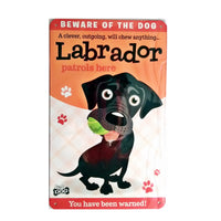 "Wags & Whiskers  Wags & Whiskers  Dog Sign/Plaque ""Labrador (Black)"" - Tin Plaque"