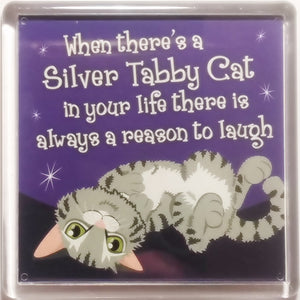 "Dog Magnet ""Silver Tabby Cat (life)"" by Paper Island"