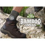 "Top Bloke Mens Gift Socks for Him - A Natural Bamboo Treat for ""Nathan"""