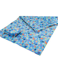 Blue seashells picnic blanket by Eco Chic
