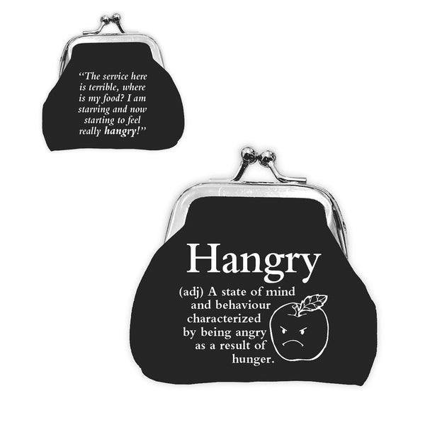 "Urban Words Mini Clip Purse ""Hangry"" with urban Meaning"