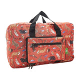 Eco Chic Lightweight Foldable Holdall Woodland (Red)