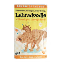 "Wags & Whiskers  Wags & Whiskers  Dog Sign/Plaque ""Labradoodle"" - Tin Plaque"