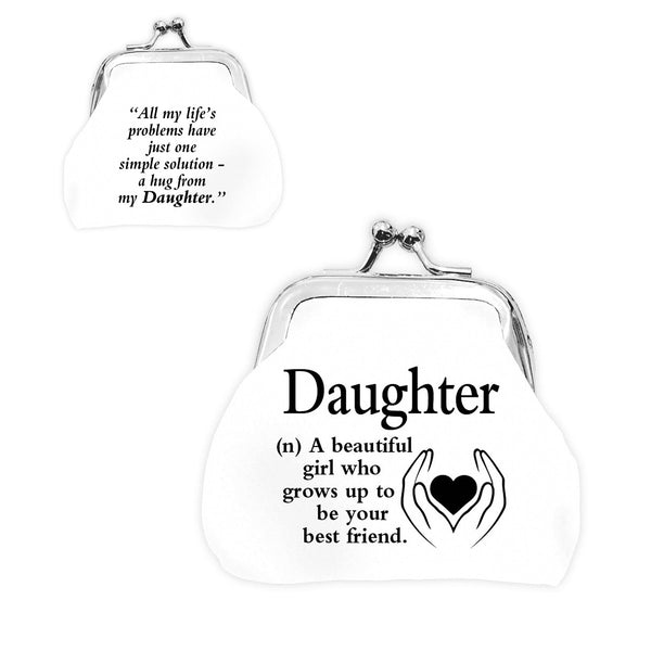 "Urban Words Mini Clip Purse ""Daughter"" with urban Meaning"