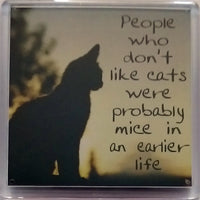 H & H Sentiment Fridge Magnet People who don't like cats - 040