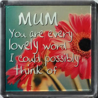 "History & Heraldry Sentiment Fridge Magnet ""Mum You are every lovely word I could possibly think of."""