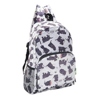 Eco Chic Lightweight Foldable Backpack (Scatty Scotty White)