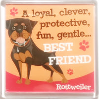 "Wags & Whiskers Dog Magnet ""Rottweiler"" by Paper Island"