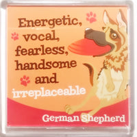"Wags & Whiskers Dog Magnet ""German Shepherd"" by Paper Island"