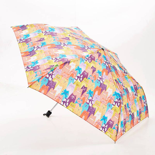 Foldable Compact Mini Umbrella 100% RPET Material Stacking Cats by Eco Chic