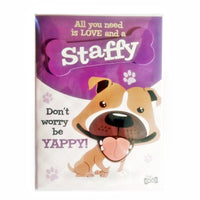 "Wags & Whiskers Dog Greeting Card ""Staffy Brown"" by Paper Island"