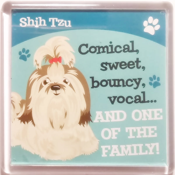 "Wags & Whiskers Dog Magnet ""Shih Tzu"" by Paper Island"