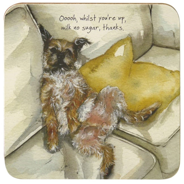 Border Terrier Coaster - Milk No Sugar