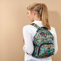 New 2020 Eco Chic 100% Recycled Foldabe Cats Print Mini Backpack