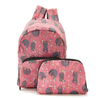 New 2020 Eco Chic 100% Recycled Foldabe Sloth Print Mini Backpack