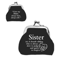 "Urban Words Mini Clip Purse ""Sister"" with urban Meaning"