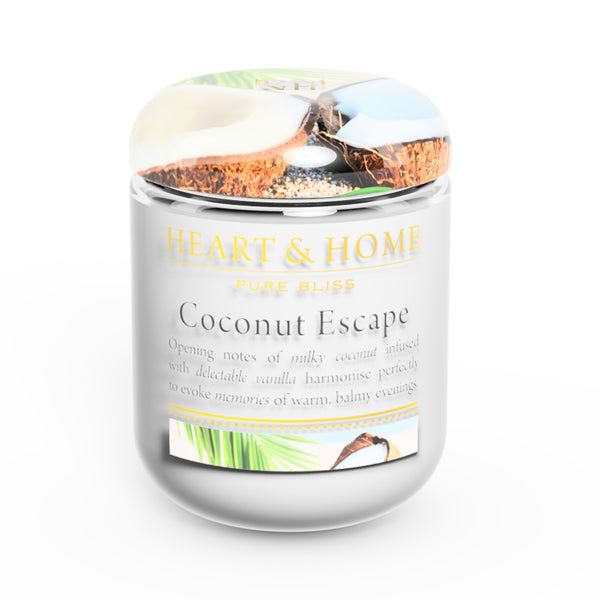 Heart & Home Small Coconut Escape Soy Wax Scented Candle