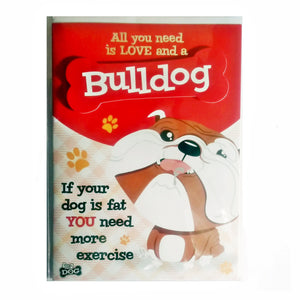 "Wags & Whiskers Dog Greeting Card ""BullWags & Whiskers Dog"" by Paper Island"
