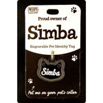 DESIRABLE GIFTS SIMBA PERSONALISED WAGS & WHISKERS CAT PET TAG NAMES CAN NOT BE CHANGED