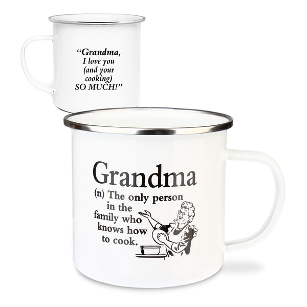 "Urban Words Tin Mug ""Grandma"" Title and Slang words including Meaning."