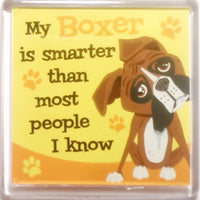 "Wags & Whiskers Dog Magnet ""Boxer"" by Paper Island"