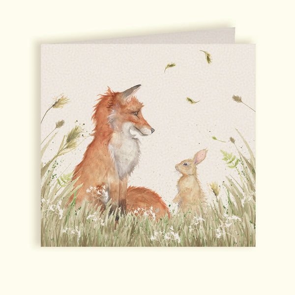 Country Companions Fax & Rabbit Greeting Card