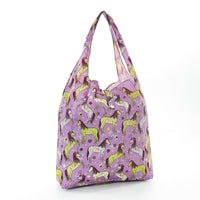 Shopper Bag by Eco Chic - Unicorn Print - Purple