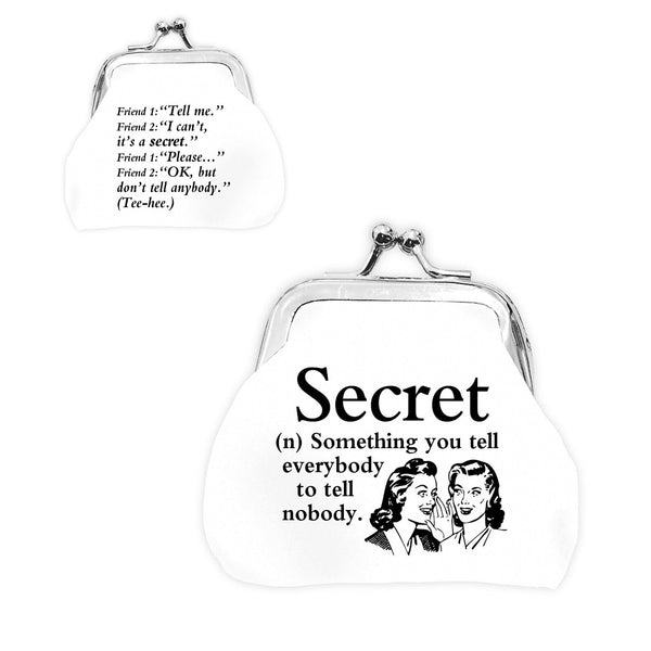 "Urban Words Mini Clip Purse ""Secret"" with urban Meaning"