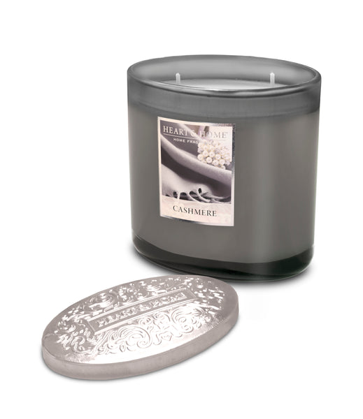 Cashmere Fragranced 2 Wick Ellipse Candle from Heart & Home