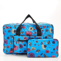 Eco Chic Lightweight Foldable Holdall Bee 2 (Blue)