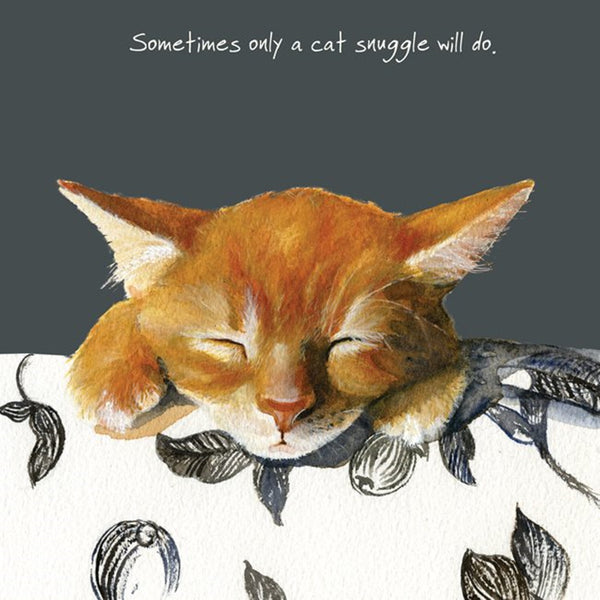 Ginger Kitten Greeting Card – Snuggle