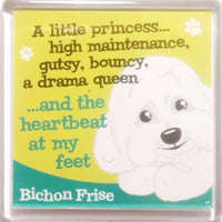 "Wags & Whiskers Dog Magnet ""Bichon Frise"" by Paper Island"