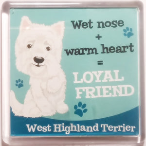 "Wags & Whiskers Dog Magnet ""West Highland Terrier"" by Paper Island"