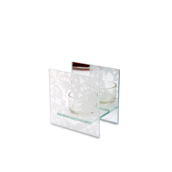 Snow Angel Square Mirrored Tealight Silver from Heart & Home