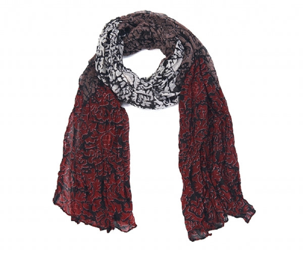 Damask Floral Scarf (Black)