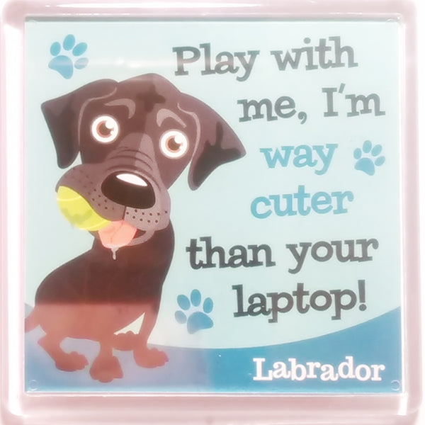 "Wags & Whiskers Dog Magnet ""Labrador (Black)"" by Paper Island"