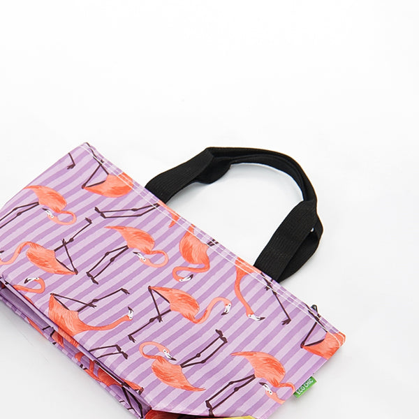 Eco ChicFlamingo Print Cool Bag Lilac
