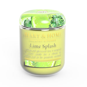 Heart & Home Small Lime Splash Soy Wax Candle