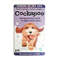 "Wags & Whiskers  Dog Sign/Plaque ""Cockapoo"" - Tin Plaque"