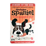 "Paper Island - Dog Sign/Plaque ""Springer Spaniel (Black & White)"" - Tin Plaque"