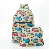 Eco Chic Beige Camper Van Foldable Backpack